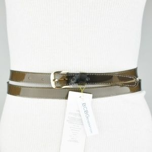 BCBGeneration Waist Belt Black Clear Double Wrap